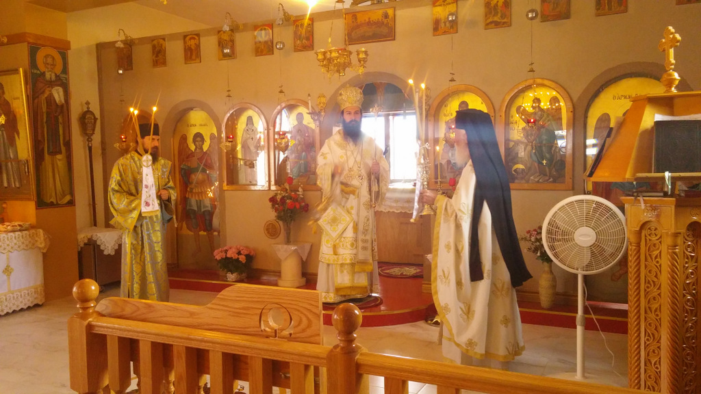 Visit of Metropolitan Demetrius to St Mark Evgenikos in Montreal